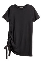 T-shirt with a drawstring - Black - Ladies | H&M CN 2