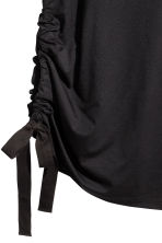T-shirt with a drawstring - Black - Ladies | H&M CN 3