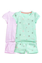 2-pack jersey pyjamas - Mint green - Kids | H&M CN 1