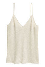 Top glitter - Beige chiaro/glitter -  | H&M IT 3