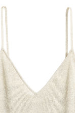 Glittery strappy top - Light beige/Glittery - Ladies | H&M 3