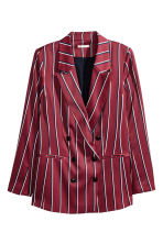 Striped blazer - Burgundy/Striped - Ladies | H&M 2