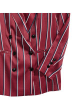 Striped blazer - Burgundy/Striped - Ladies | H&M 3