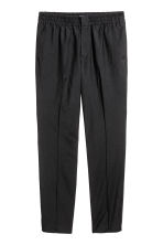 Elasticated wool suit trousers - Black - Men | H&M CN 2