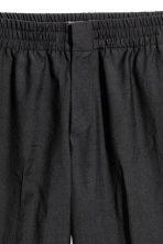 Elasticated wool suit trousers - Black - Men | H&M 4