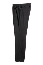 Elasticated wool suit trousers - Black - Men | H&M CN 3