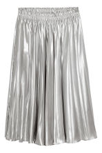Pleated skirt - Silver - Ladies | H&M 2