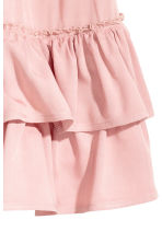 Frilled skirt with smocking - Light pink - Ladies | H&M CN 3