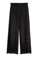Jacquard-patterned trousers - Black -  | H&M CN 2