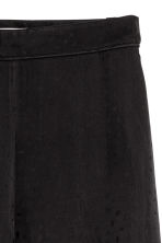 Jacquard-patterned trousers - Black -  | H&M CN 3
