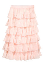 Tiered skirt - Powder pink - Ladies | H&M GB 2