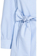 Cotton wrap dress - Blue/White/Striped - Ladies | H&M CN 3
