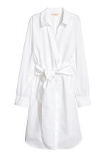 Cotton wrap dress - White -  | H&M 2