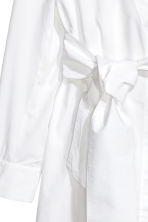 Cotton wrap dress - White -  | H&M GB 3