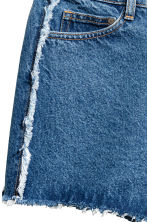 Frayed-hem denim shorts - Denim blue - Ladies | H&M 4