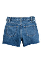Frayed-hem denim shorts - Denim blue - Ladies | H&M CN 3