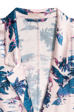 Patterned satin shirt - Light pink/Palms - Ladies | H&M 3