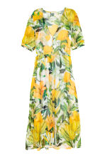 Chiffon dress - White/Yellow patterned - Ladies | H&M CA 2