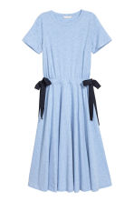 Jersey dress with ties - Light blue - Ladies | H&M CN 2