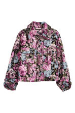 Jacquard-weave jacket - Black/Floral - Ladies | H&M 2