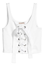 Laced top - White - Ladies | H&M 2
