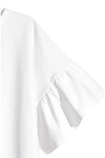 Top with flounced sleeves - White -  | H&M 3