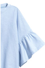 Top with flounced sleeves - Light blue - Ladies | H&M CN 3