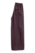Wide cotton trousers - Plum - Ladies | H&M 3