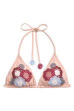 Triangle bikini top - Powder pink - Ladies | H&M IE 2