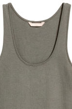 Pima cotton vest top - Khaki green - Ladies | H&M CA 3