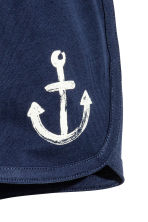 Jersey shorts - Dark blue/Anchor - Kids | H&M CN 2