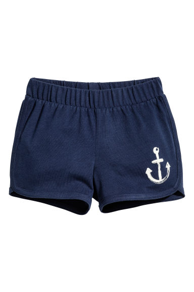 Jersey shorts - Dark blue/Anchor -  | H&M