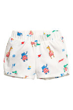 Jersey shorts - White/Animal -  | H&M 1