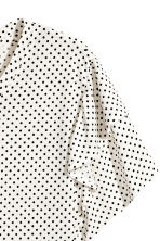 Top with frills - White/Spotted -  | H&M 3