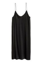 Knee-length jersey dress - Black -  | H&M 2