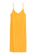 Knee-length jersey dress - Yellow -  | H&M CN 2