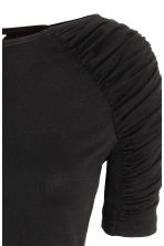 Jersey top with gathers - Black - Ladies | H&M 3