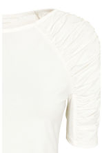Jersey top with gathers - White - Ladies | H&M CN 3