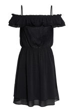 Off-the-shoulder dress - Black -  | H&M 2