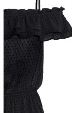 Off-the-shoulder dress - Black - Ladies | H&M 3