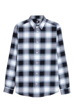 標準剪裁棉質襯衫 - Dark blue/Checked - Men | H&M 2