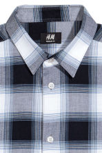 標準剪裁棉質襯衫 - Dark blue/Checked - Men | H&M 3