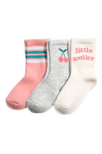 3-pack sports socks - Pink - Kids | H&M 1