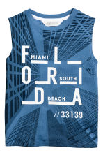 Printed vest top - Blue/Florida -  | H&M CA 1