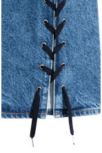 Denim skirt with lacing - Denim blue - Ladies | H&M CN 4