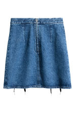 Denim skirt with lacing - Denim blue - Ladies | H&M 3