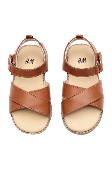 Leather sandals - Camel - Kids | H&M CN