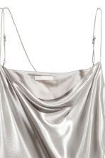 Shimmering metallic dress - Silver - Ladies | H&M CA 2