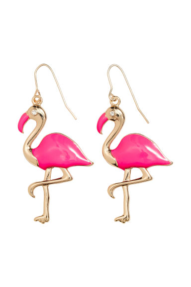 Earrings - Neon pink/Flamingo - Ladies | H&M