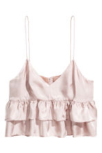 Short tiered strappy top - Powder pink - Ladies | H&M 2